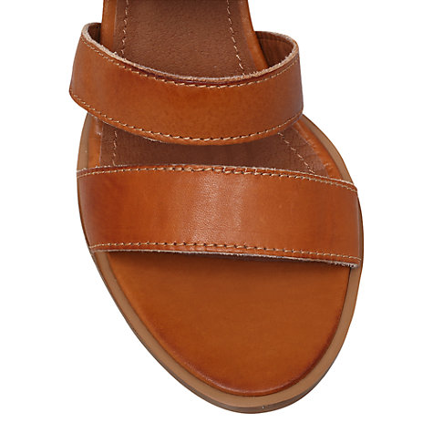 Buy Carvela Klunk Leather Heeled Sandals, Tan Online at johnlewis.com