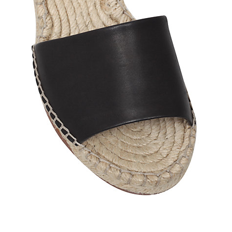 Buy KG by Kurt Geiger Naomi Leather Espadrille Wedge Heel Sandals Online at johnlewis.com