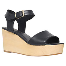Buy KG by Kurt Geiger Nia Leather Sandals, Black Online at johnlewis.com