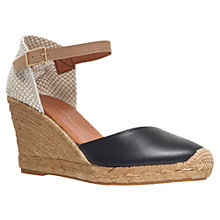 Buy KG by Kurt Geiger Monty Leather Wedge Heel Espadrilles Online at johnlewis.com