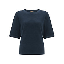 Buy Jigsaw Raglan-sleeve Sweatshirt, Dark Blue Online at johnlewis.com