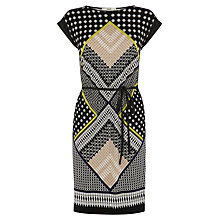 Buy Oasis Mombassa Print Dress, Multi Black Online at johnlewis.com