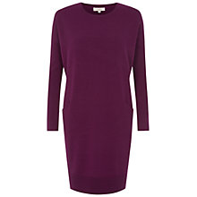 Buy Hobbs Gwen Knitted Dress, Violet Pink Online at johnlewis.com
