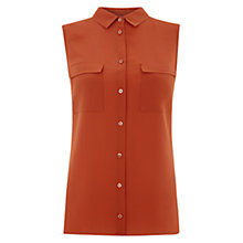 Buy Hobbs Perry Shirt, Dark Ginger Online at johnlewis.com
