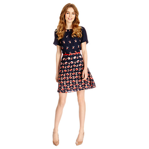 Buy Oasis Rose Dress, Navy Multi Online at johnlewis.com