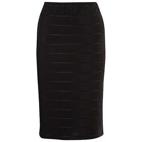 Buy Chesca Ottoman Self Striped Skirt, Black Online at johnlewis.com