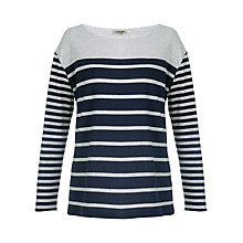 Buy Jigsaw Striped Jersey Top, Navy Online at johnlewis.com