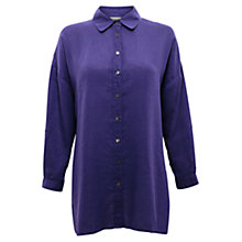 Buy East Oversized Linen Shirt, Amethyst Online at johnlewis.com