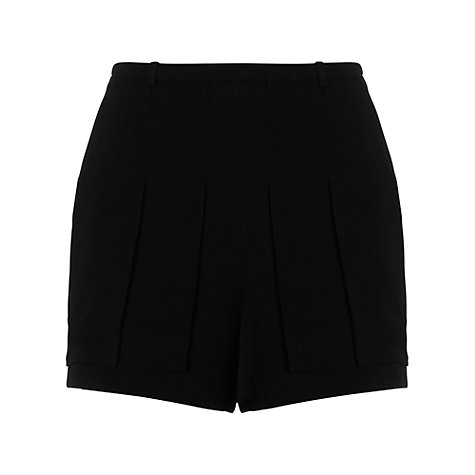 Buy Whistles Gracie Crepe Shorts, Black Online at johnlewis.com