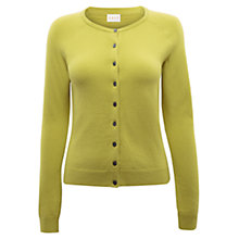 Buy East Crew Neck Button Cardigan, Kiwi Online at johnlewis.com