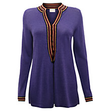 Buy East Crochet Long Cardigan, Amerthyst Online at johnlewis.com