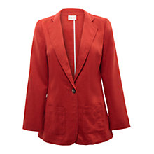 Buy East Linen Boyfriend Jacket, Henna Online at johnlewis.com