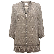 Buy East Tribal Print Shirt, Pearl Online at johnlewis.com