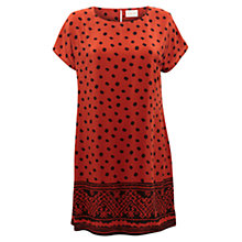 Buy East Mara Print Silk Tunic, Henna Online at johnlewis.com