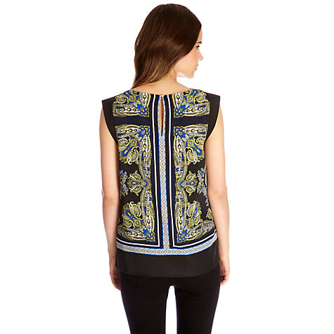 Buy Oasis Scarf Print T-shirt, Multi Online at johnlewis.com