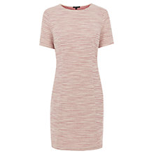 Buy Warehouse Fluro Boucle Zip Shoulder Dress, Light Pink Online at johnlewis.com