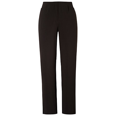 Buy Chesca Pull On Flat Trousers, Black Online at johnlewis.com