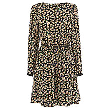 Buy Oasis Ditsy Viscose Dress, Black Multi Online at johnlewis.com