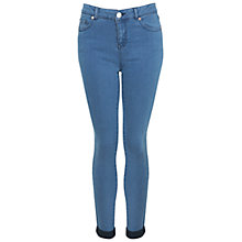 Buy Miss Selfridge Ultra Soft Super Skinny Jeans, Bleached Denim Online at johnlewis.com