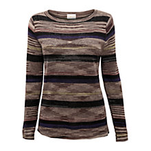 Buy East Space Dye Linen Jumper, Elephant Online at johnlewis.com