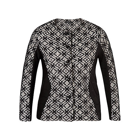 Buy Chesca Lace Trim Ottoman Jersey Jacket Black Ivory