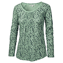 Buy Fat Face Pebsworth Peacock Top, Light Moss Online at johnlewis.com