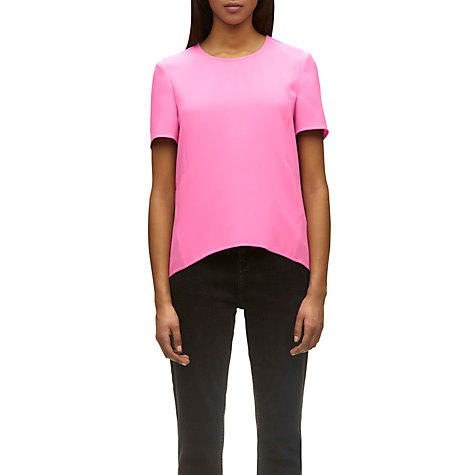 Buy Whistles Sculpted T-Shirt, Pink Online at johnlewis.com