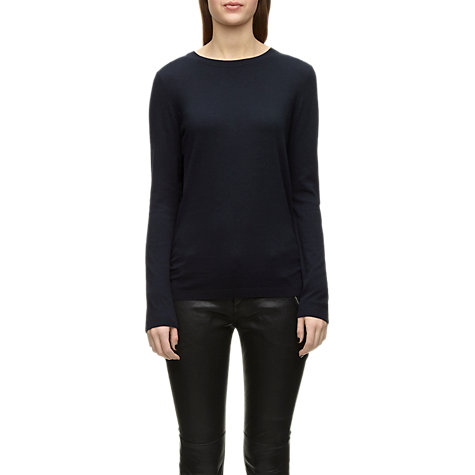 Buy Whistles Greta Ruched Side Jumper, Navy Online at johnlewis.com