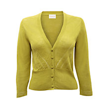 Buy East Eyelet Linen Cardigan, Kiwi Online at johnlewis.com