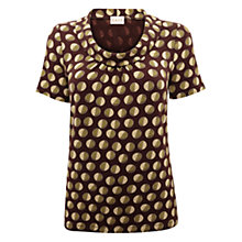 Buy East Fola Print Jersey Top, Cocoa Online at johnlewis.com