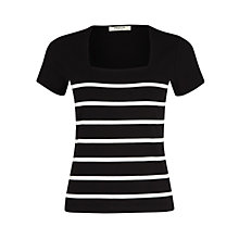 Buy Precis Petite Striped Top, Black Stripe Online at johnlewis.com
