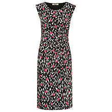 Buy Precis Petite Sleeveless Peony Leaf Print Dress, Pink Pattern Online at johnlewis.com