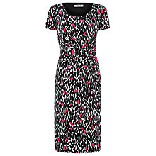 Buy Precis Petite Leaf Print Dress, Pink Pattern Online at johnlewis.com
