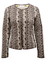 Buy East Mara Quilted Printed Jacket, Pearl, 18 Online at johnlewis.com