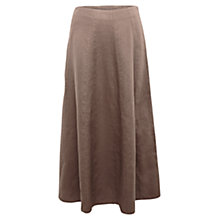 Buy East Longline Linen Flare Skirt, Elephant Online at johnlewis.com