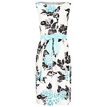 Buy Precis Petite Floral Sash Dress, Aqua Online at johnlewis.com