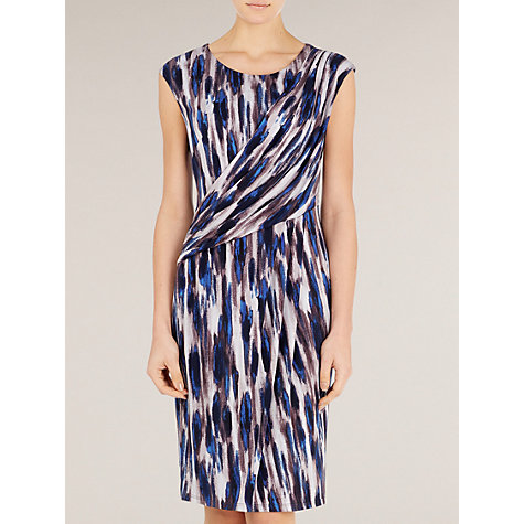 Buy Planet Drape Crepe Jersey Dress, Blue Multi Online at johnlewis.com