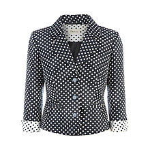 Buy Precis Petite Spot Jacket, Navy Spot Online at johnlewis.com