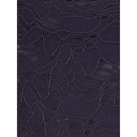 Buy Planet Lace Jersey Top, Navy Online at johnlewis.com