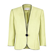 Buy Jacques Vert Piped One-Button Jacket, Yellow Online at johnlewis.com