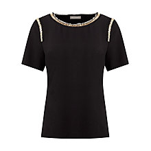 Buy Planet Embellished Top, Black Online at johnlewis.com