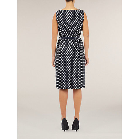 Buy Precis Petite Spot Print Shift Dress, Blue Online at johnlewis.com