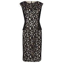 Buy Planet Lace Dress, Black/Champagne Online at johnlewis.com