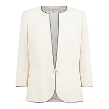 Buy Jacques Vert Edge to Edge Jacket, White Online at johnlewis.com