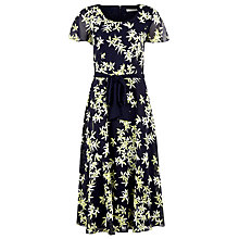Buy Jacques Vert Soft Floral Print Dress, Blue Online at johnlewis.com