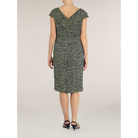 Buy Jacques Vert Spot Layered Cross Over Dress, Blue Online at johnlewis.com