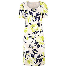 Buy Jacques Vert Floral Shift Dress, Yellow Online at johnlewis.com