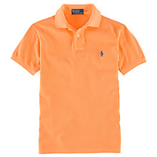 Buy Polo Ralph Lauren Slim Fit Polo Shirt, Bright Melon Online at johnlewis.com