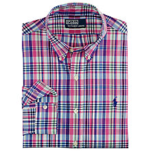 Buy Polo Ralph Lauren Check Slim Fit Shirt, French Multi Online at johnlewis.com