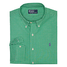 Buy Polo Ralph Lauren Check Slim Fit Shirt, Green Online at johnlewis.com